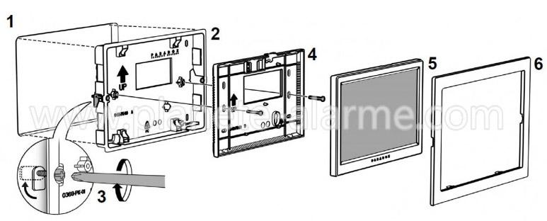 Guide pour l'installation du support mural à encastrer Paradox TM70WB