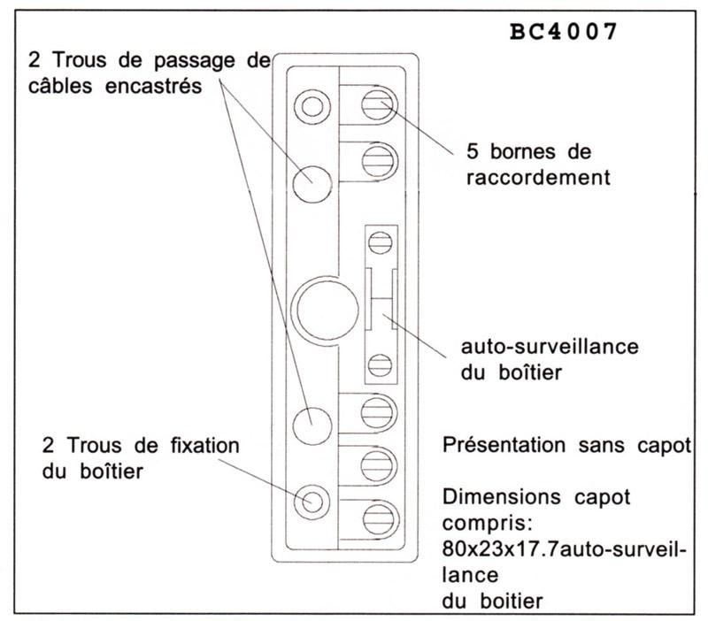 Becuwe BC4007 - Boite de raccordement 7 bornes à vis