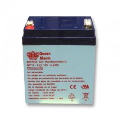 Batterie rechargeable 12V / 4.2 Ah pour alarme filaire