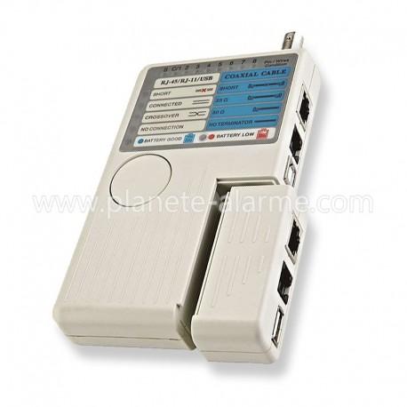 Testeur de câbles réseau RJ11 RJ45 USB BNC