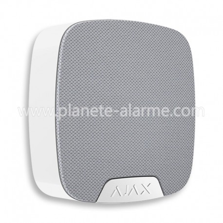 Sirène intérieure blanche sans fil HomeSiren Ajax