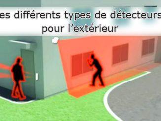 Les différents types de détecteurs pour l'extérieur