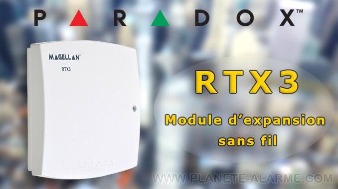 Paradox RTX3 / Récepteur radio pour centrale filaire Paradox