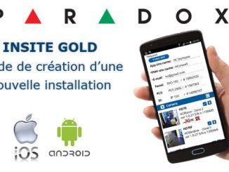 Insite Gold Paradox – Guide de création d'une nouvelle installation