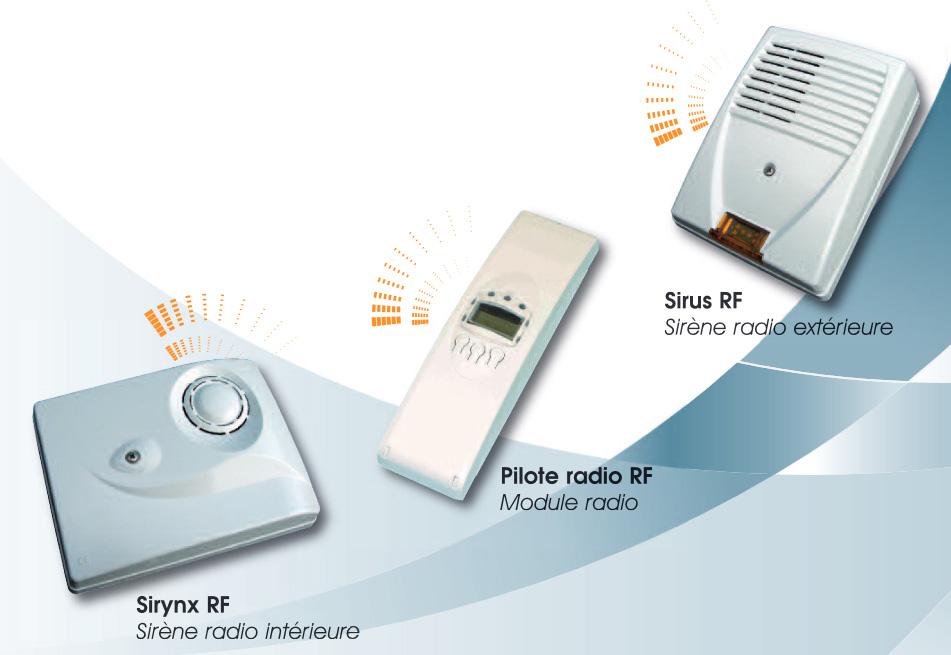 Système sirène intérieure et extérieure sans fil