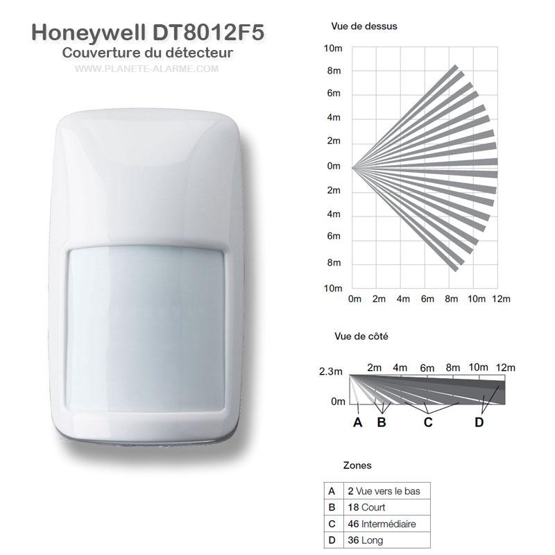 Couverture du détecteur filaire Honeywell DT8012F5