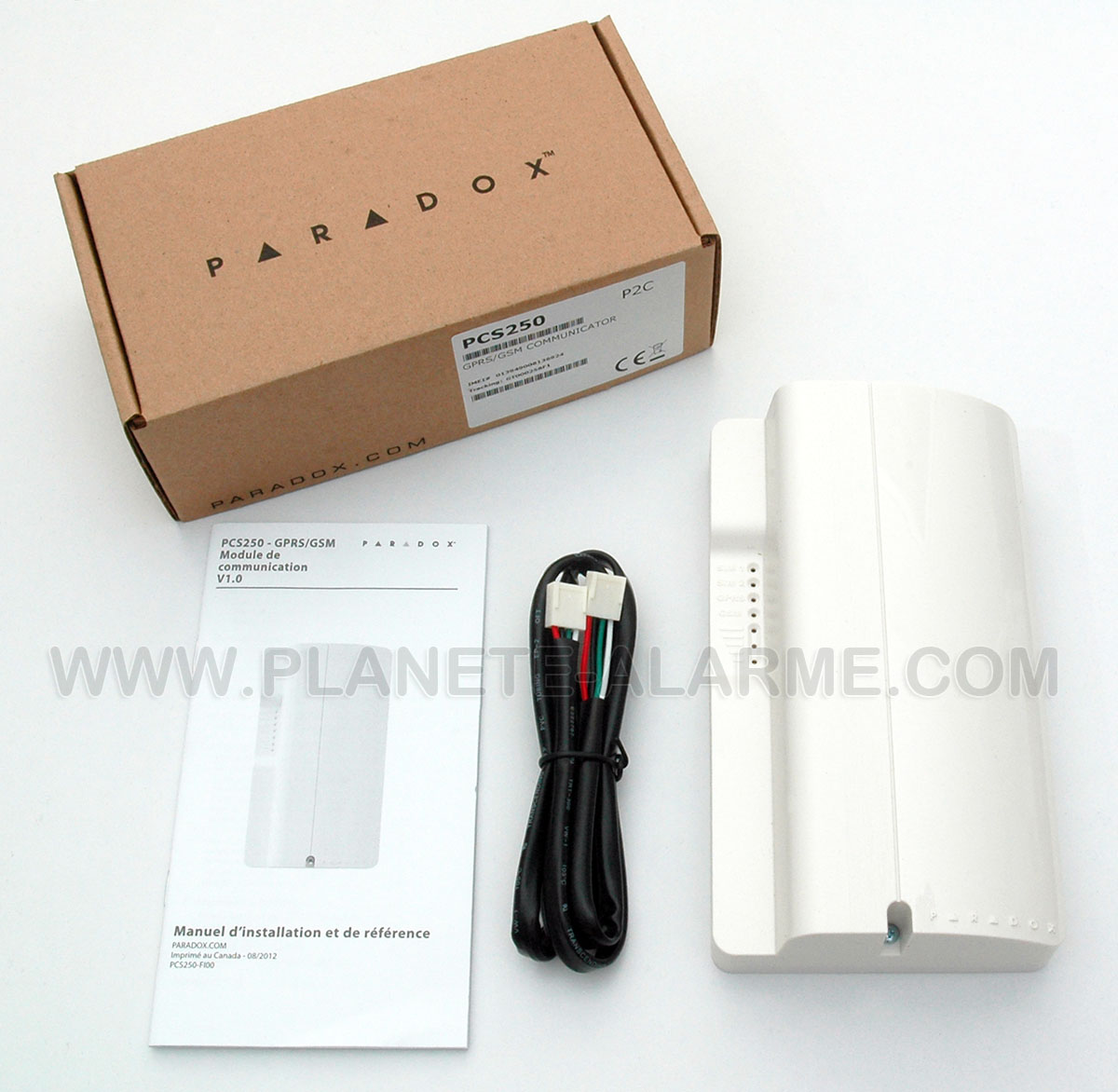 Contenu du pack Paradox PCS250 GSM / GPRS