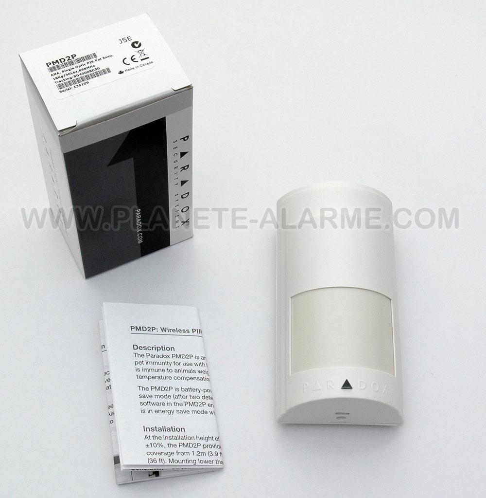 Détecteur de mouvement infrarouge sans fil radio Paradox PMD2P pour l'interieur