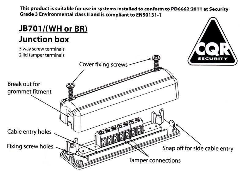 CQR JB701 - Boite de raccordement 7 bornes à vis