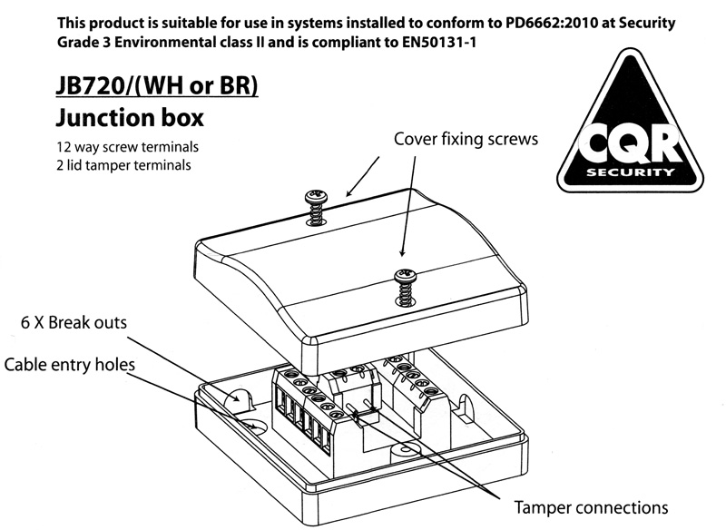 Boite de jonction CQR JB720